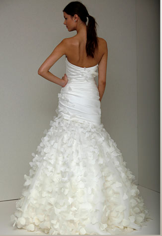 Angelic floor length trumpet gown _Strapless DC252