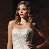 Embroidered Strapless A-Line Bridal Gown / Wedding Dress EG65