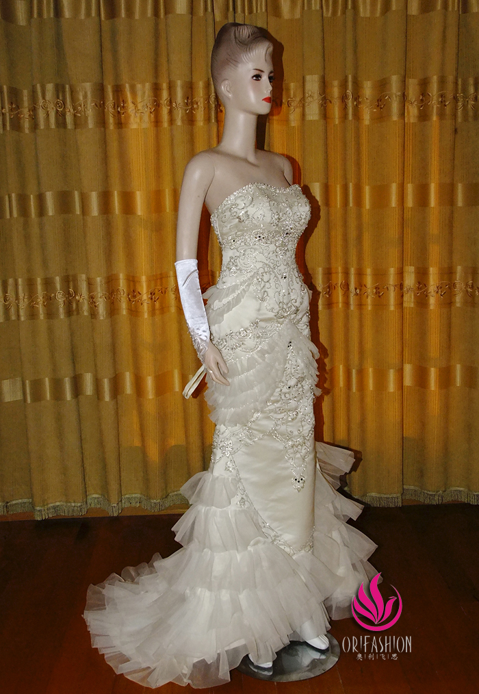 Orifashion HandmadeReal Romantic wedding dress RC122