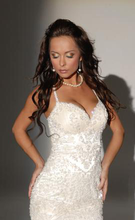 Orifashion HandmadeRomantic Sexy Bridal Gown with Swarovski bead