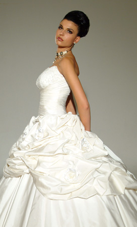 Orifashion HandmadeSexy Bridal Gown with Detachable Train SW034